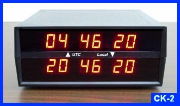 CK2 LED Digital Dual Time Zone Clock Electronics USA