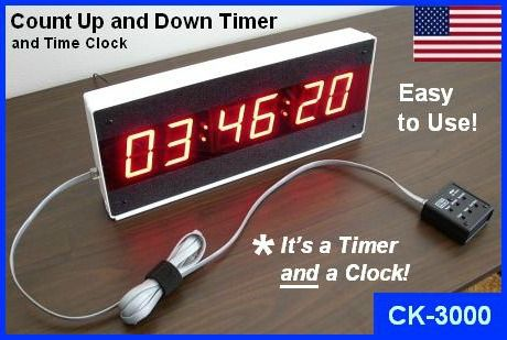 LED Large Digital Count Up Countdown Timer