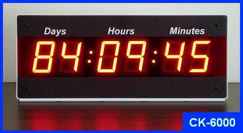 Days countdown timer count up timer
