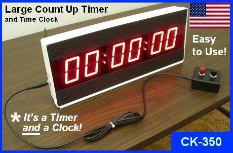 LED large count up timer