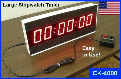 LED Large Stopwatch Timer | Big Display Stopwatch Digital Stop Clock