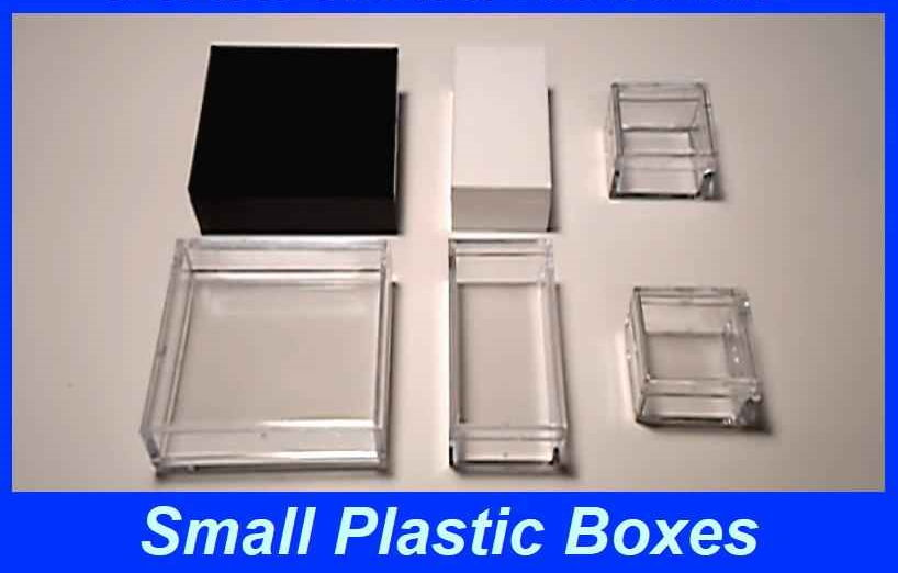 small plastic boxes with lids