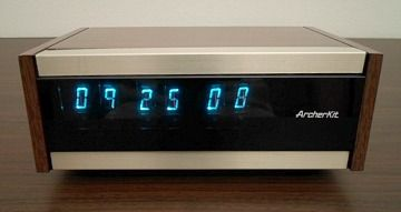 Archerkit vintage clock with VFD display