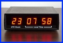 dual time zone led clock