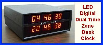 LED Digital Time Zone Clock