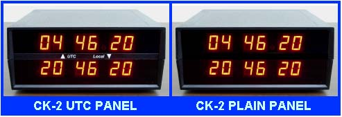 Photo:  choice of two panels for time zone clock / local  UTC or plain panel