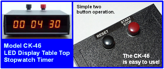 LED stopwatch lab timer