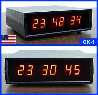 LED Small Digital Desk Clock with Seconds : Electronics USA
