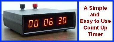 led digital industrial count up clock